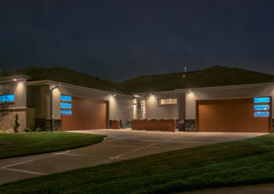 superior-door-inc-modern-garage-doors-night