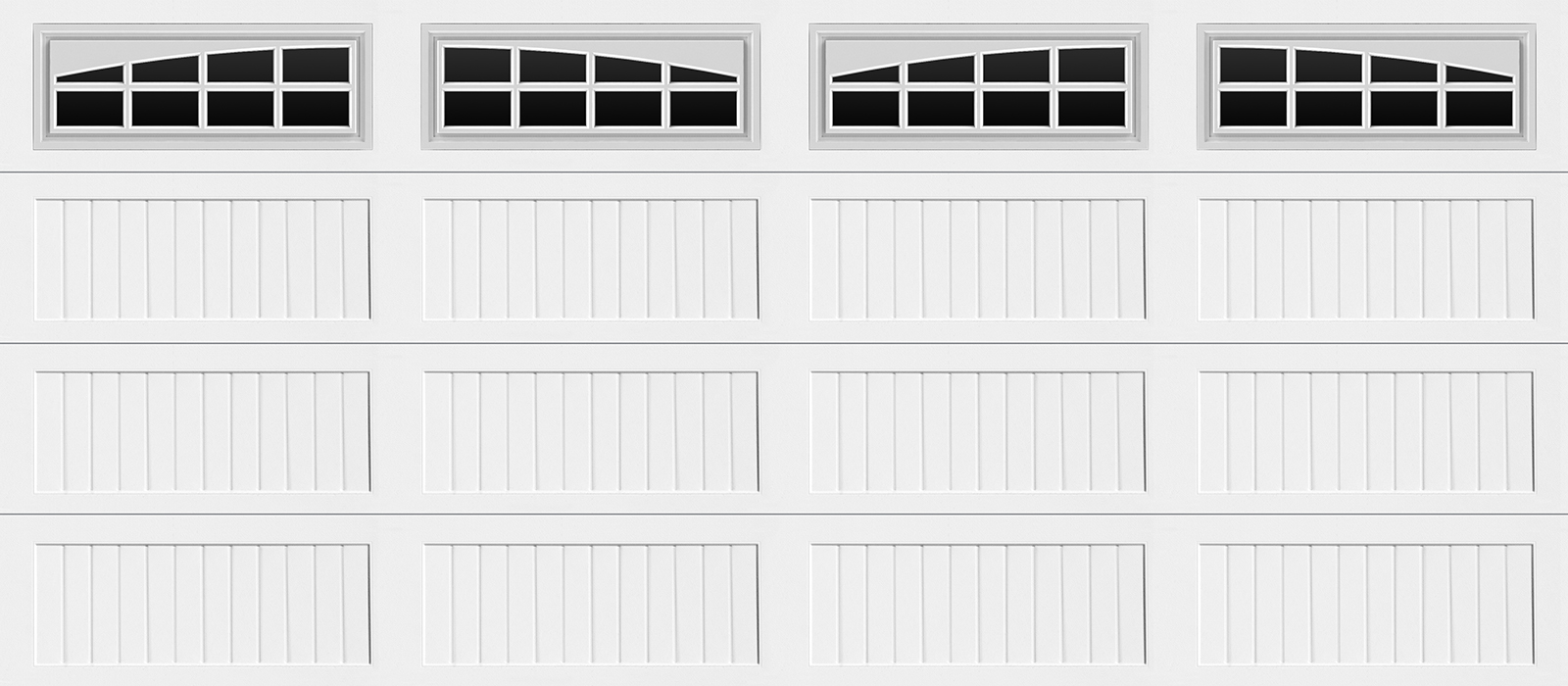 16x7 Long Panel Carriage White Sommerton