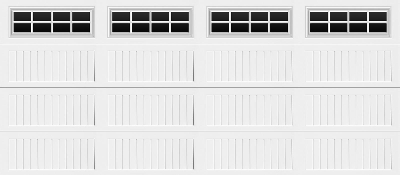 16x7 Long Panel Carriage White Stockton