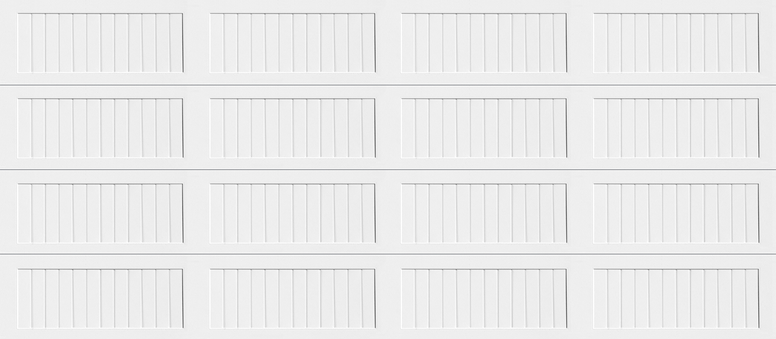 16x7 Long Panel Carriage White