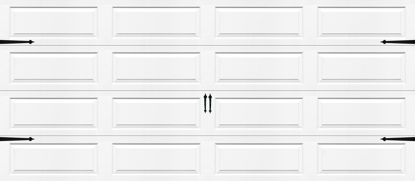 16x7 Ranch Panel White - hardware