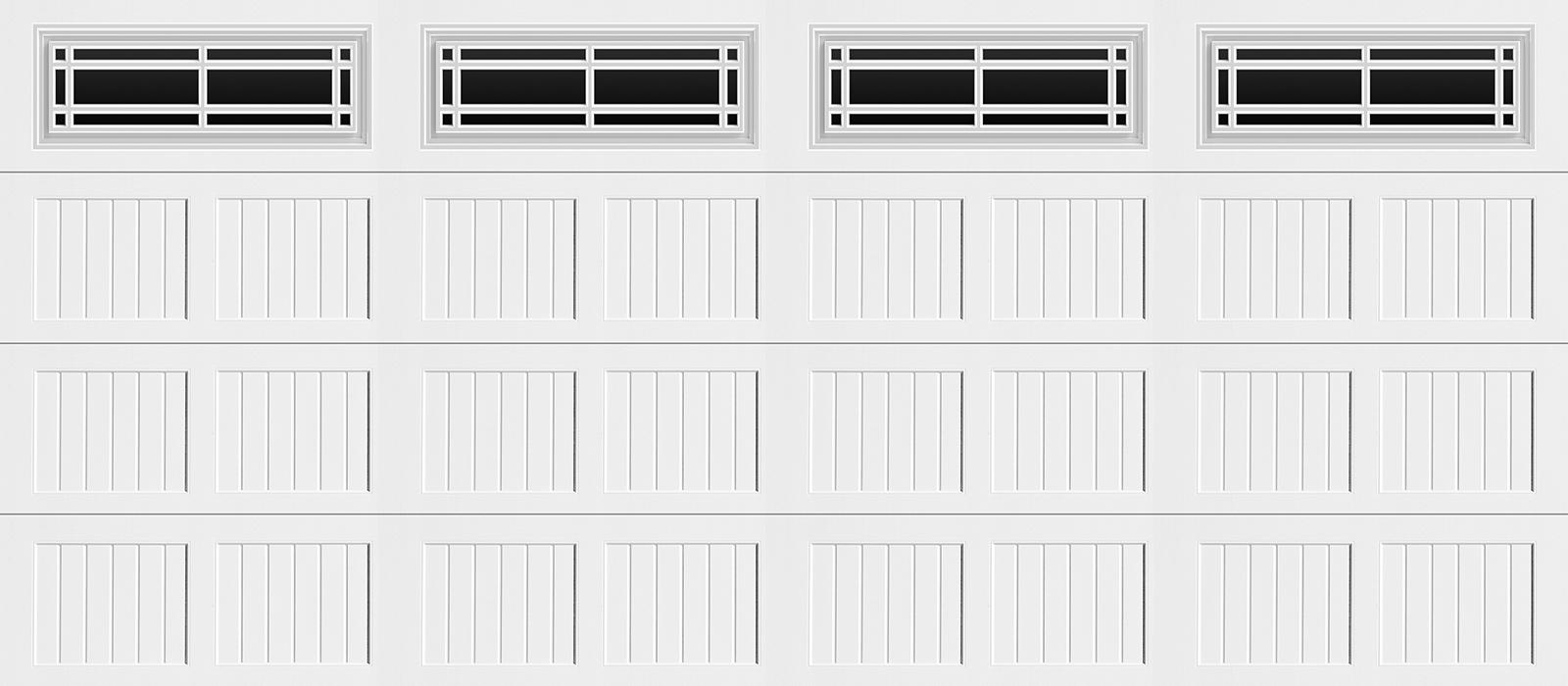 16x7 Short Panel Carriage White Prairie