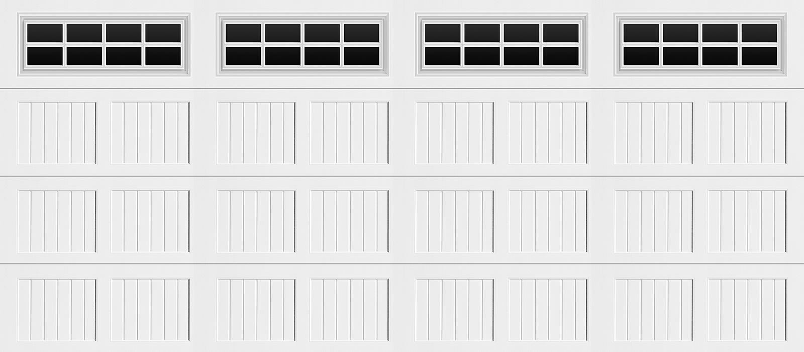 16x7 Short Panel Carriage White Stockton